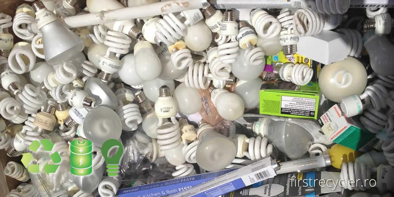 FIRST RECYCLER colecteaza corpuri iluminat, baterii alte DEEE
